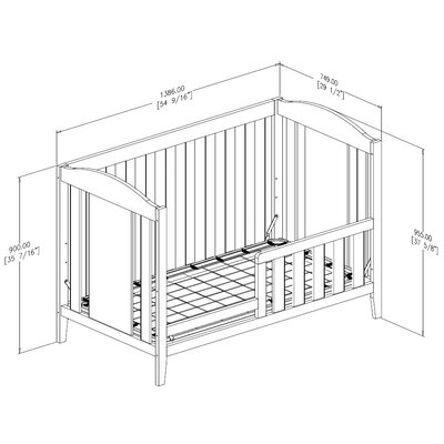 South Shore Angel Convertible Crib