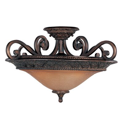 Maxim Lighting Symphony 3 Light Semi Flush Mount