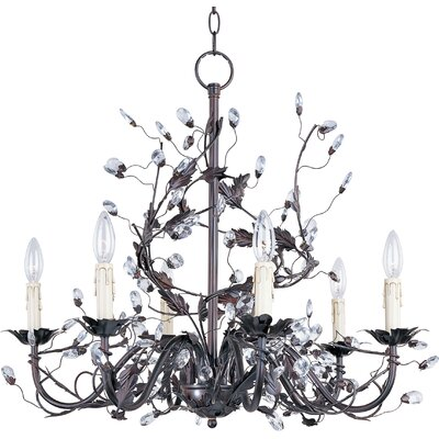 Elegante 6 Light Candle Chandelier
