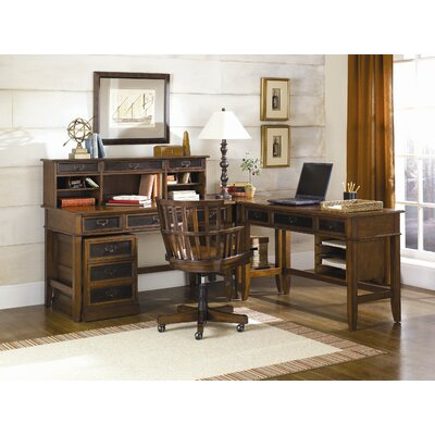 Hammary Mercantile L-Shape Desk Office Suite
