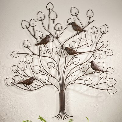 GiftCraft Tree with Bird Design Wall Decor