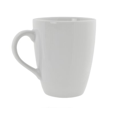 Ten Strawberry Street Classic White 12 oz. Barrel Mug