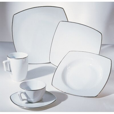 Ten Strawberry Street Lotus Silver Line Dinnerware Set