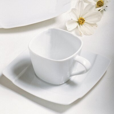 Ten Strawberry Street Nouve Square 5 oz. Teacup and Saucer