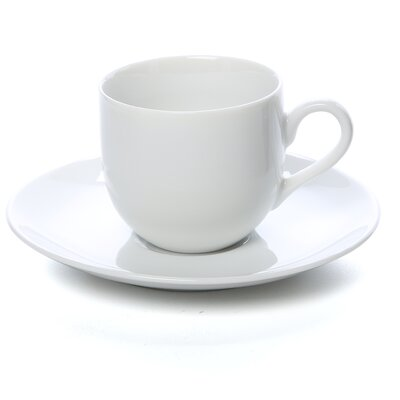 Ten Strawberry Street Classic White 3 oz. Teacup and Saucer