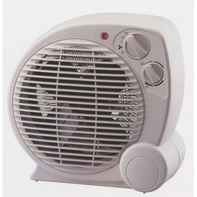 Pelonis 500 Watt Fan Forced Compact Space Heater