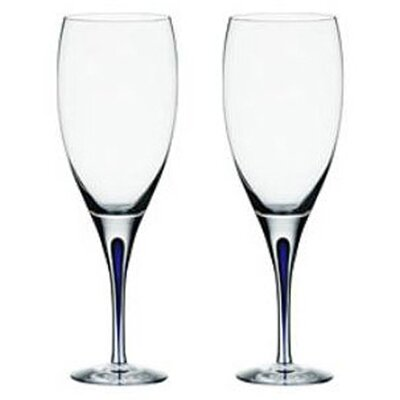 Orrefors Intermezzo Blue 11 oz. Goblet (Set of 2)