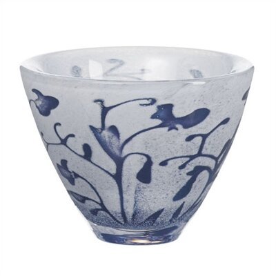 Kosta Boda Floating Blue Flower Bowl