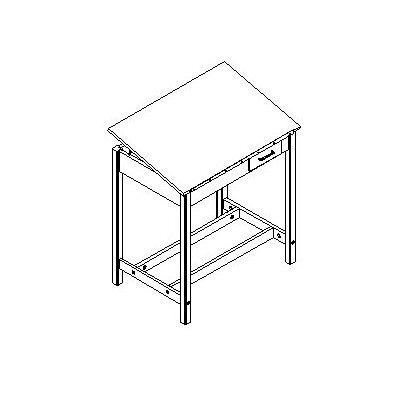 Shain Fiberesin Adjustable Drafting Table with Drawer