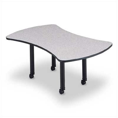 "ABCO 120"" Wide Presentation Top Conference Table with Designer Base"
