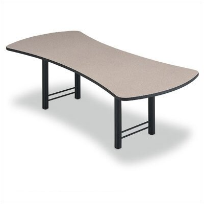 "ABCO 96"" Wide Presentation Top Conference Table with Slab Base"