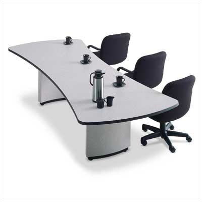 "ABCO 120"" Wide Presentation Top Conference Table with Curved Plinth Base"
