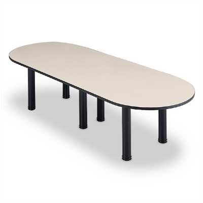 "ABCO 120"" Wide Oval Top Conference Table with Designer Base"