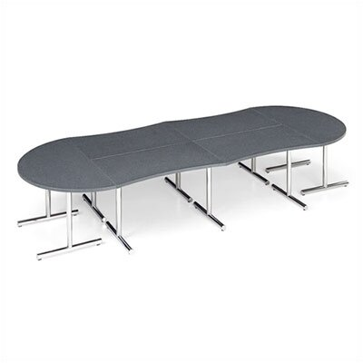 "ABCO Smart Tables: 30"" x 72"" Concave Wave Conference Kit"
