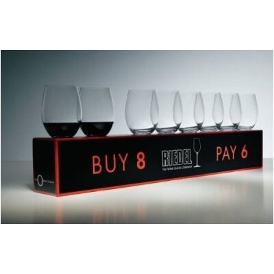 "Riedel Pay 6 Get 8 ""O"" Cabernet/Merlot Wine Glass Set"
