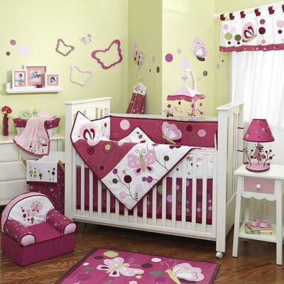 Lambs & Ivy Raspberry Swirl Crib Bedding Collection