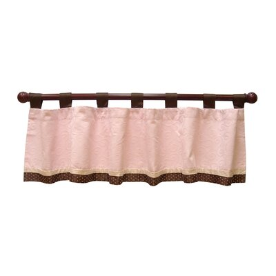 Lambs & Ivy Madison Avenue Baby Tab Top Tailored Curtain Valance