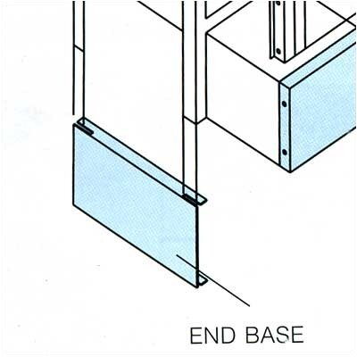 Penco End Bases, Single Row - for Lockers with Legs