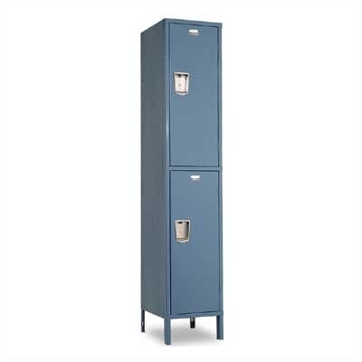 Penco Guardian Medallion Lockers - Double Tier - 1-Wide (Assembled)