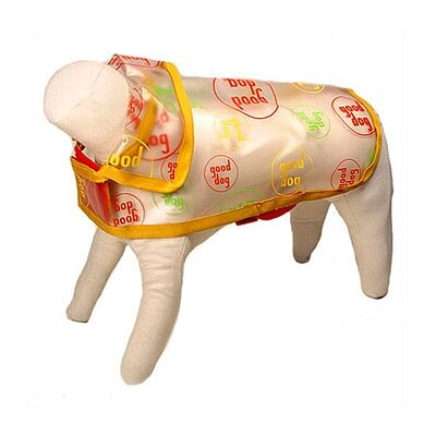 George SF Good Dog Logo Vinyl Dog Raincoat