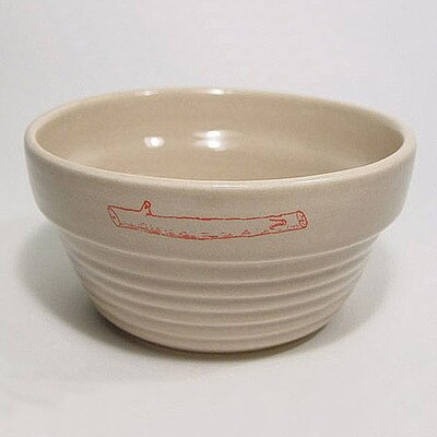 Stick Logo Ridged Dog Bowl