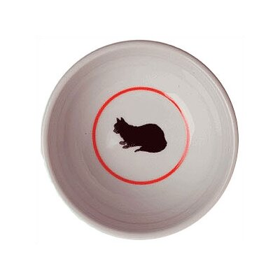 George SF Cameo Porcelain Cat Bowl