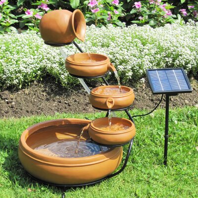 Solar Terracotta Cascading Fountain