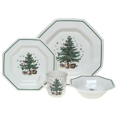 Nikko Ceramics Christmastime 4 Piece Place Setting