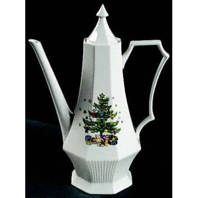 Nikko Ceramics Christmastime Coffee Pot and Lid