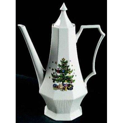 Nikko ceramics christmastime coffee pot and lid