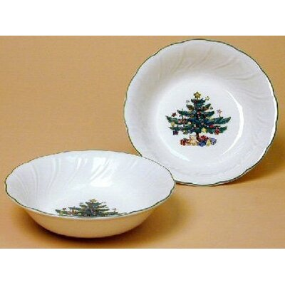 "Nikko Ceramics Happy Holidays 5.5"" Fruit Bowl (Set of 4)"