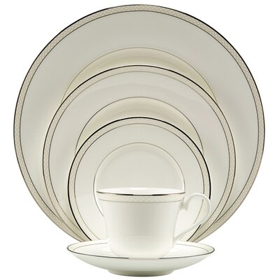 Platinum Beaded Pearl Dinnerware Set
