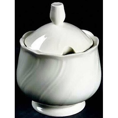 Nikko Ceramics White Satin Sugar Bowl with Lid