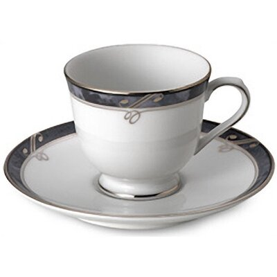 Nikko Ceramics Sentiments Moonstone Demitasse Cup and Saucer
