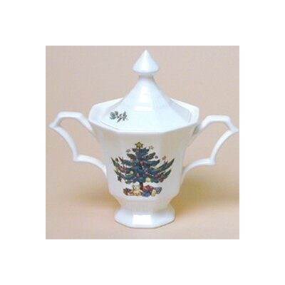 Nikko Ceramics Christmastime Sugar Bowl with Lid