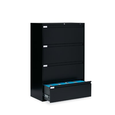 "Global Total Office 36"" W Four-Drawer Lateral File"