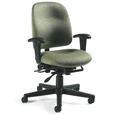 Global Total Office Granada Low-Back Pneumatic Multi-Tilter Office Chair