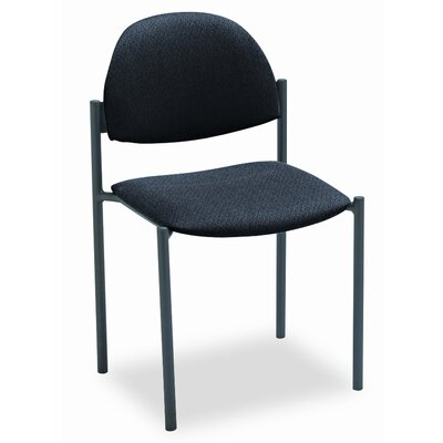 Global Total Office Comet Armless Stacking Chair with Rounded Back and Frame