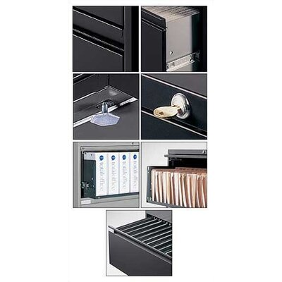 "Global Total Office 42"" W Five-Drawer Lateral File"