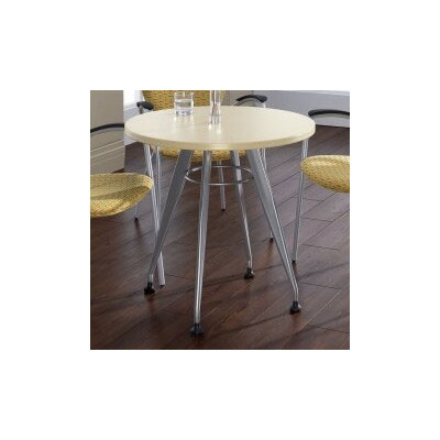 Global Total Office Round Top Laminate Meeting Table
