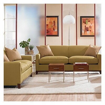 Rowe Furniture Martin Mini Mod Apartment Sofa and Loveseat