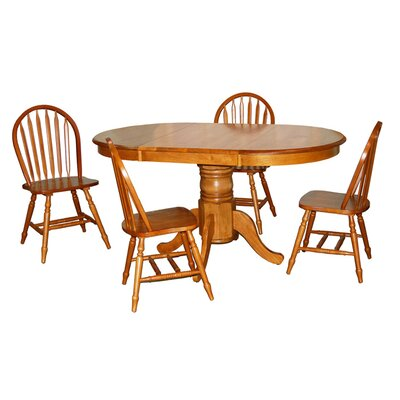 TMS Farmhouse 5 Piece Dining Set
