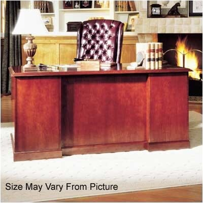 "High Point Furniture Legacy 66"" Single Pedestal Veneer Executive Desk"