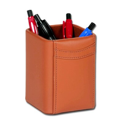 Dacasso 1000 Series Classic Leather Pencil Cup in Tan
