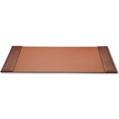 Dacasso 2000 Series Crocodile Embossed Leather 34 x 20 Side-Rail Desk Pad in Brown