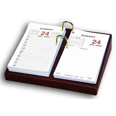 Dacasso 1000 Series Classic Leather Calendar Holder Base in Mocha