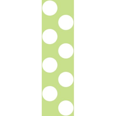 WallCandy Arts Polka Dot Wallpaper in Green and White