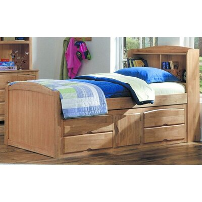 827 Series Captain Bed with Under Storage in Maple
