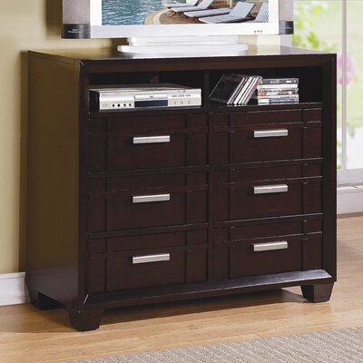 Lewiston 6 Drawer Media Dresser