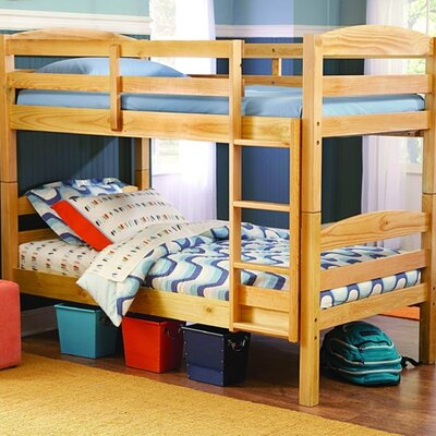 Woodbridge Home Designs B28 Series Twin over Twin Bunk Bed with Built-In Ladder